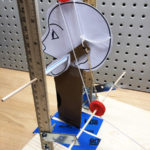 2D puppet head in a test stand