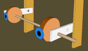 Diagram of a puppet eye mechanism